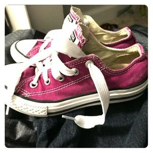 Girls Converse Allstar pink purple sneakers